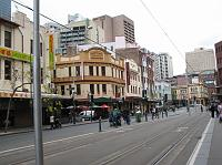 Light rail tracks near Darling Harbour and Chinatown