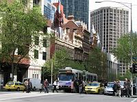 tram in Melbourne CBD