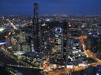 Melbourne CBD at night