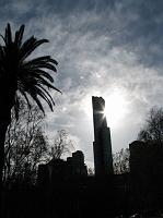 sunlight behind Eureka tower