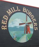 Red Mill Burgers mural