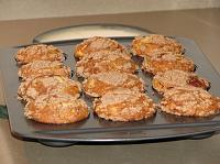 fresh-made cinnamon swirl muffins