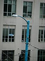 teal light post
