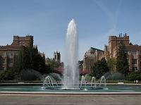 UW Campus and Drumheller Fountain