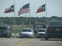 giant Texas flags